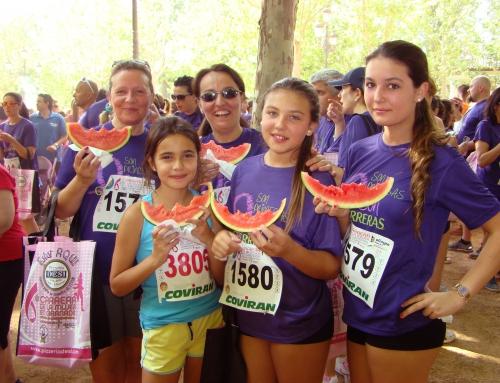 La sandía bouquet refresca la carrera de la mujer de Granada